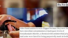Mỹ công bố hơn 100 loại dung dịch khử trùng không đảm bảo
