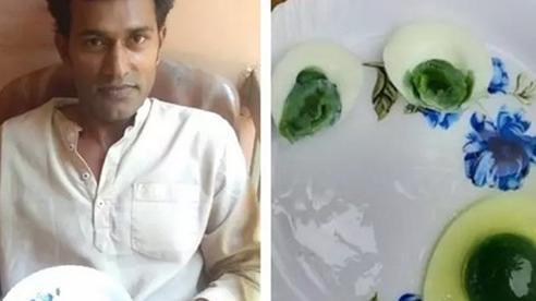 Trứng gà lòng xanh lục kỳ lạ tại Ấn Độ