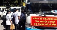 Bác sĩ, điều dưỡng ở Huế lên đường chi viện Đà Nẵng