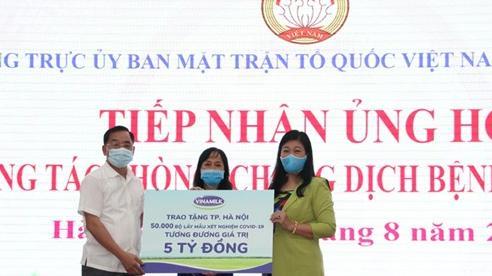 Hà Nội tiếp nhận ủng hộ 50.000 bộ lấy mẫu xét nghiệm Covid-19