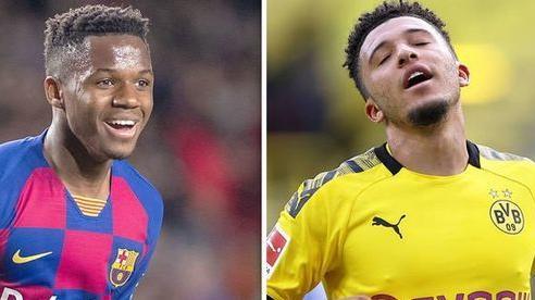 Barca sợ MU từ bỏ Jadon Sancho, quay sang cuỗm Fati