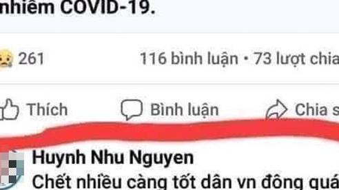 Truy tìm chủ tài khoản Facebook đăng nội dung về covid-19 'chết càng nhiều càng vui'