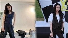 F5 phong cách với áo gi-lê để độc lạ như Jennie Black Pink, Địch Lệ Nhiệt Ba