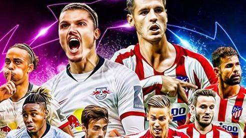 Trực tiếp Atletico vs RB Leipzig: Tử chiến lấy vé bán kết