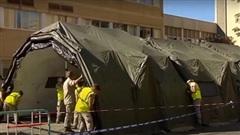 Châu Âu mở lại bệnh viện dã chiến do tái bùng phát Covid-19