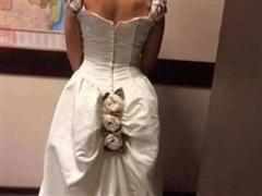Cô dâu gây bão khi chia sẻ hình ảnh về chiếc váy cưới 'thảm họa'