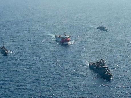 Tàu chiến Hy Lạp và Thổ Nhĩ Kỳ va chạm trên vùng biển tranh chấp