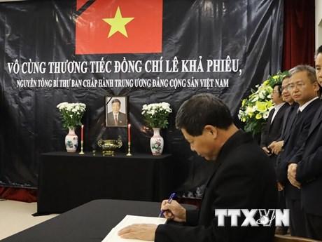 Lễ viếng nguyên Tổng Bí thư Lê Khả Phiêu tại Malaysia và Nhật Bản