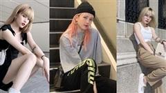 Phong cách mặc nhấn vào eo, chân của Thiều Bảo Trâm