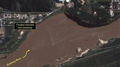 Mưa lớn cuốn mìn Triều Tiên trôi xuống Hàn Quốc
