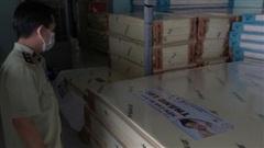 Thu giữ gần 600 tấm nệm giả thương hiệu nổi tiếng ở TP Hồ Chí Minh