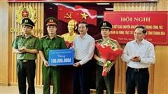 Phá nhiều vụ án phức tạp, Công an tỉnh Thanh Hóa được trao thưởng 100 triệu đồng