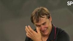 HLV Julen Lopetegui bật khóc sau khi Sevilla giành chức vô địch Europa League