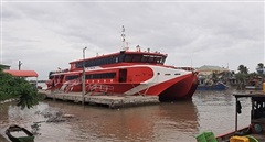 Tàu cao tốc tuyến Cần Thơ – Trần Đề - Côn Đảo tạm ngừng hoạt động