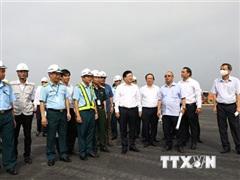 Đảm bảo tiến độ sửa đường băng và vận hành sân bay Nội Bài an toàn