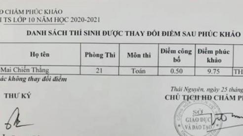 Từ 'trượt' thành 'đỗ' lớp 10 sau phúc khảo bài thi Toán tăng 9,25 điểm