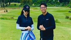 Hương Giang lần đầu khoe clip đánh golf có cả bạn trai Matt Liu lên mạng xã hội