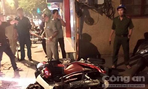 Bị Công an truy bắt, tên trộm dùng vật giống súng cướp xe máy tẩu thoát