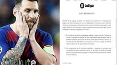 La Liga tổng công kích, Lionel Messi khó tự do rời bỏ Barcelona
