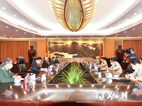 Đại sứ Phạm Sao Mai hội kiến Bộ trưởng Quốc phòng Trung Quốc