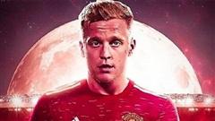 Hé lộ mức lương của Van de Beek tại Man United