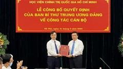 PGS.TS Dương Trung Ý giữ chức Phó Giám đốc Học viện Chính trị quốc gia HCM