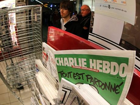 Tạp chí Charlie Hebdo lại đăng các bức biếm họa nhà tiên tri Mohammed
