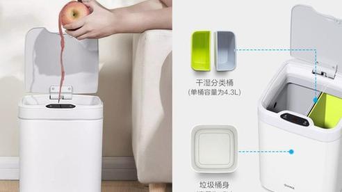 Xiaomi ra mắt thùng rác thông minh: Tự động đóng/mở, thiết kế 2 ngăn, pin 3 tháng, giá 340.000 đồng