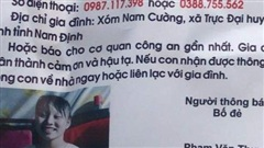 Nam Định: Con gái 14 tuổi đi khỏi nhà 4 ngày chưa về, người cha cầu cứu cộng đồng mạng