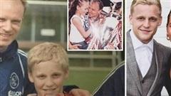 Van de Beek và chuyện tình đẹp với con gái huyền thoại Arsenal