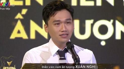 Hồng Diễm, Xuân Nghị khóc nghẹn nhận giải 'Diễn viên ấn tượng'
