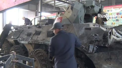 Nga phục hồi thành công BTR-80 sau khi trúng đạn RPG