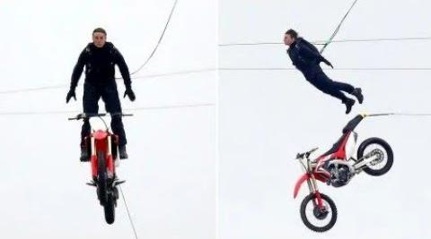 Tom Cruise lái xe lao thẳng xuống vách núi không cần đóng thế