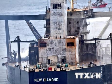 Sri Lanka khống chế được đám cháy mới trên tàu MT New Diamond