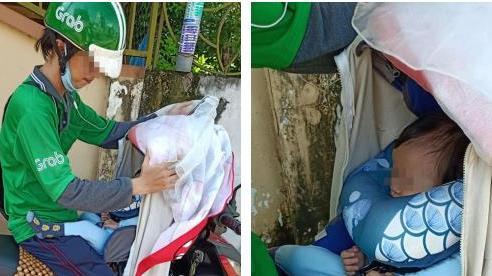 Tài xế Grab đèo con 8 tháng tuổi cùng đi làm, hình ảnh đứa bé ngủ say khiến tất cả xúc động