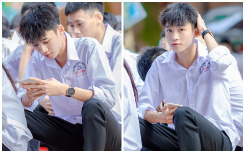 Về trường cấp 3 ngày khai giảng, nam sinh bất ngờ chiếm spotlight vì đẹp trai lai láng