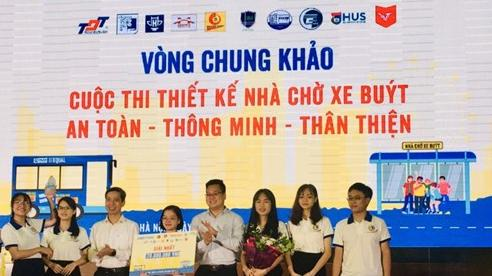 Đội 20 Plus UTC (Đại học GTVT) giành giải nhất Cuộc thi 'Thiết kế nhà chờ xe buýt An toàn - Thông minh - Thân thiện