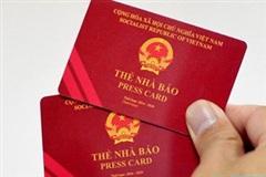Lần đầu tiên Bộ TT&TT cho phép khai hồ sơ cấp đổi thẻ nhà báo online
