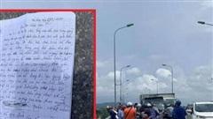 Người đàn ông để lại lá thư gửi con trai 2 tuổi rồi bất ngờ nhảy sông tự tử