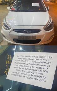 Bức xúc vì chiếc xe đỗ hơn 12 tiếng trước cửa, chủ nhà viết thông báo 'dằn mặt' chủ xe gây chú ý MXH