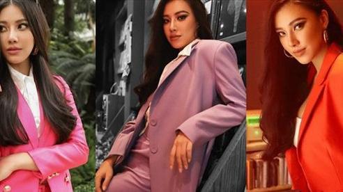 Diện vest sắc màu 'hot trend' như Á hậu Kim Duyên