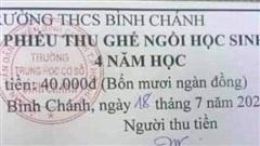 Thu tiền ghế ngồi của học sinh, trường học ở TP.HCM phải trả lại