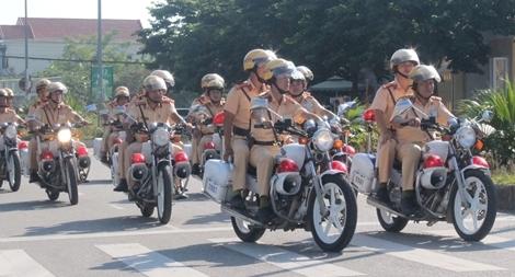 CSGT Công an tỉnh Thừa Thiên Huế ra quân đảm bảo trật tự ATGT