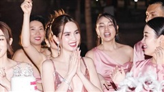 Tiệc sinh nhật hồng đón tuổi 31 của Ngọc Trinh