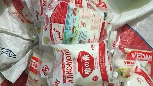 Bắt quả tang 2 cha con sản xuất bột ngọt giả nhiều nhãn hiệu nổi tiếng