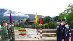 Tuần tra liên hợp trên tuyến biên giới Lai Châu