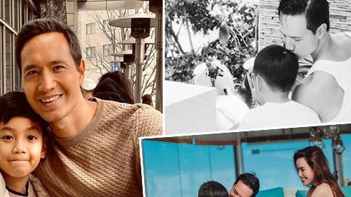 Tình cảm đáng ngưỡng mộ Kim Lý dành cho con riêng Hà Hồ