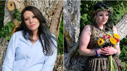 Bỏ mặc bạn trai cùng 2 con nhỏ, người phụ nữ quyết định 'kết hôn' với... cây