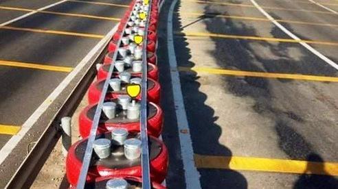 Độc đáo lốp xe làm hộ lan trên Quốc lộ 1
