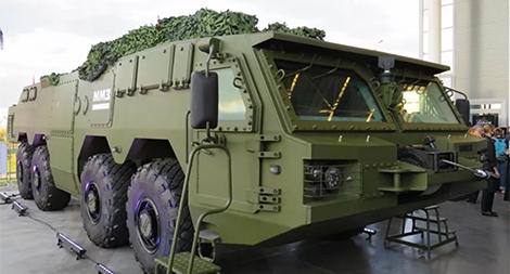Khung gầm bánh lốp quân sự, sản phẩm mới ấn tượng của Nga